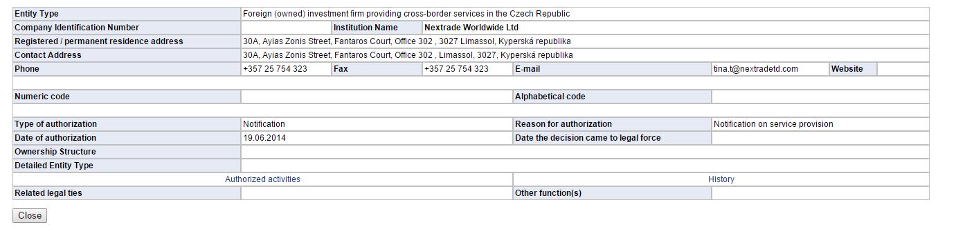 StockPair licence na webu cnb.cz