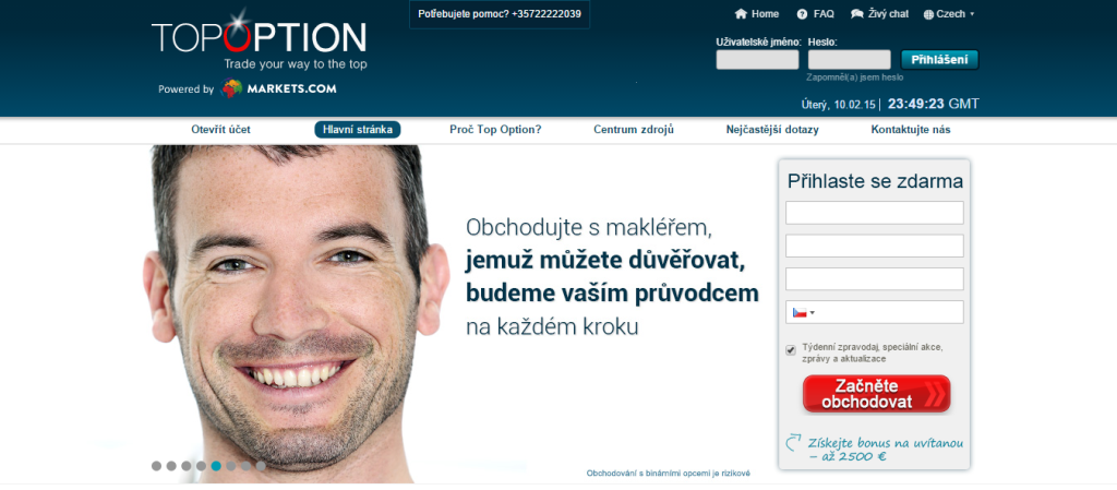 TopOption - webová stránka