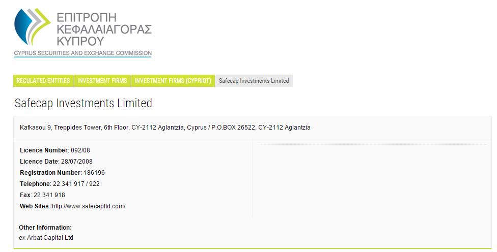Licence brokera TopOption u úřadu CySEC