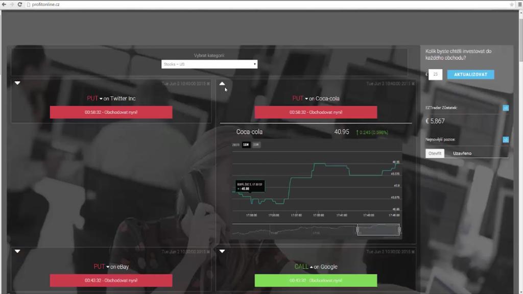 Prostředí systému Profit Online