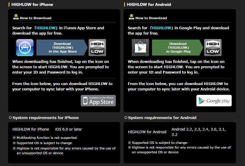 High Low nabízí svým traderům mobilní platformy pro iOS a Android