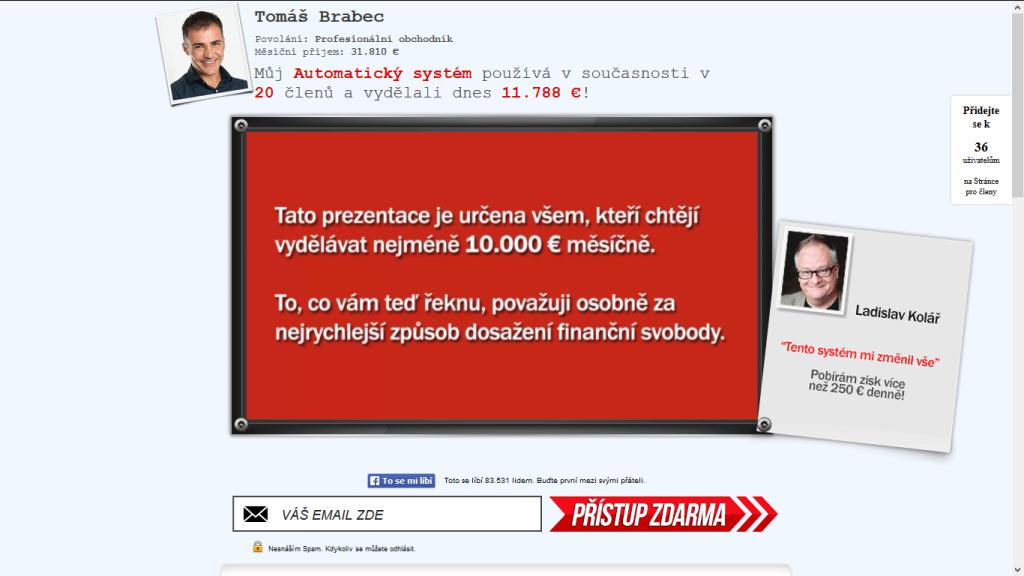 Milionář Tomáš Brabec - povoláním profesionální obchodník