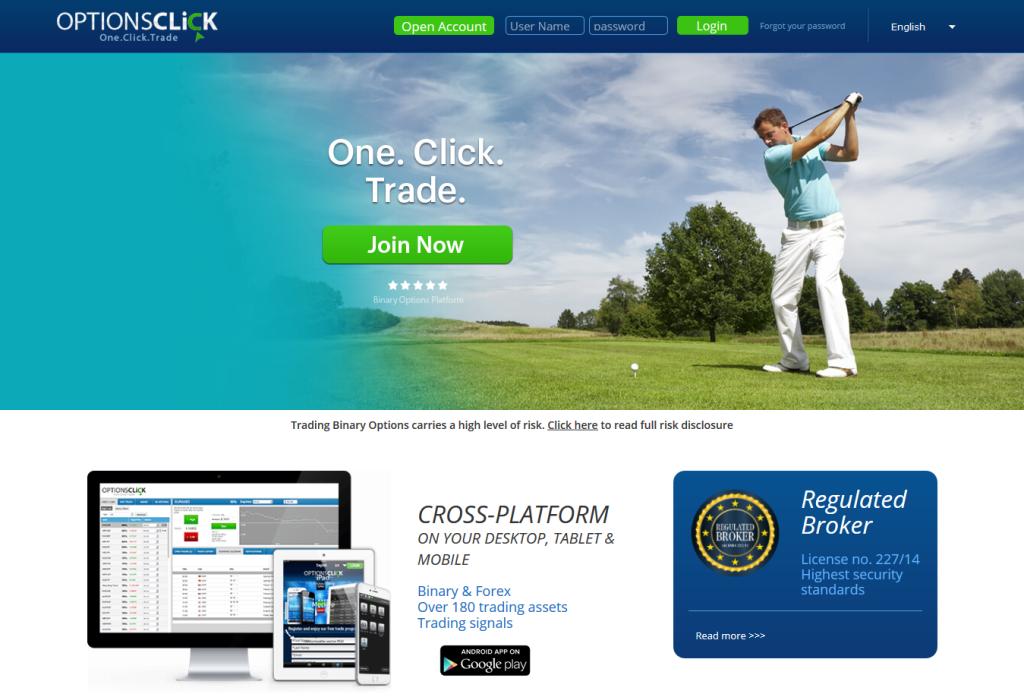 Webová stránka binárního brokera