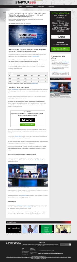 Podvodná stránka Startup365 (start-up365-czech.com)