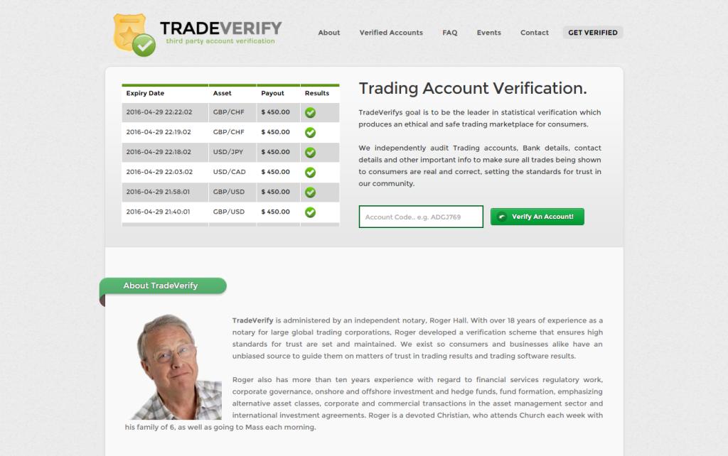 Tradeverify je fiktivní organizace s falešnými údaji