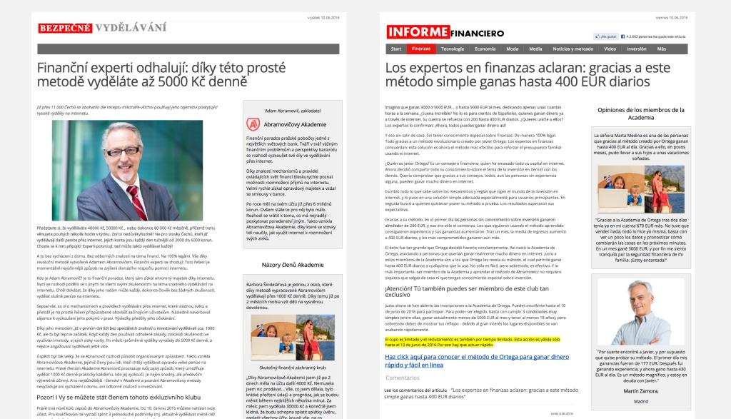 Bezpecnevydelavani.com a jeho španělská mutace