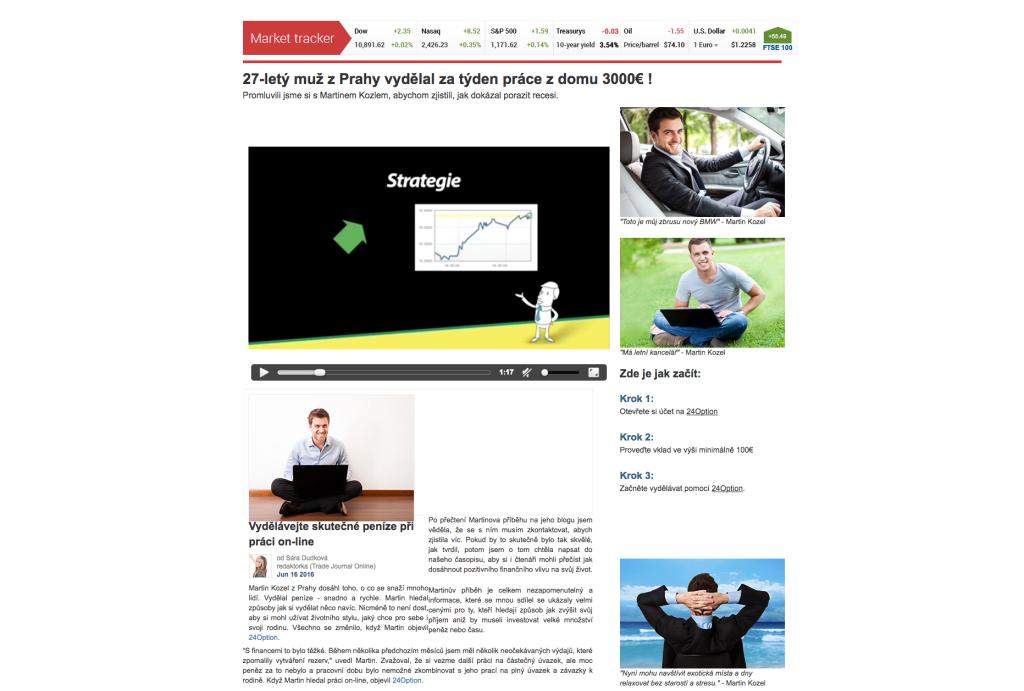 Recenze: Webová stránka vydelek-penez.com