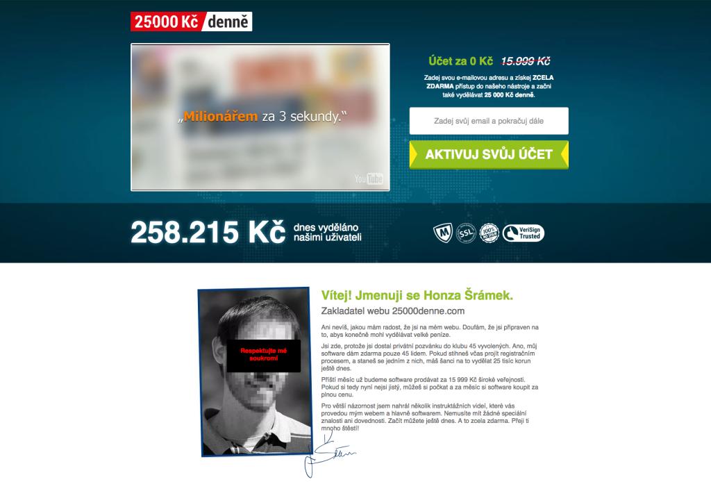 Webová stránka 25000denne.com